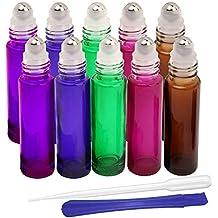 Botellas de cristal de 10 ml, para aceites esenciales, aromaterapia, fragancia, con