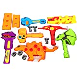 Toys Bhoomi 25 Piece Take Apart Dinosaur Robot Play Tools Toy Set For Kids Toys Puzzle Nailing Games With Moving Joints Assembly Dino (661-349)