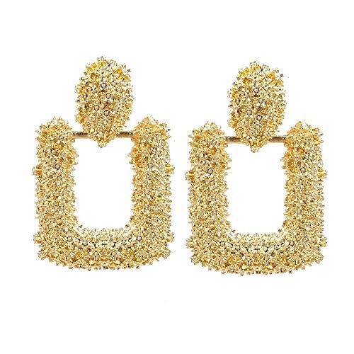 ZFF@# Neuheit Schmuck-Frauen Ohrstecker Ohrring Tropfen Ohrringe Ohr Linie, Minimalistische Geometrische Form Mini Geprägte Ohrringe Retro Mode Persönlichkeit Ohrringe Gold, Damen Schmuck Party -