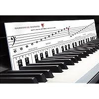 """Klavierspielen lernen mit Freude & Spaß """"Klaviatur mit Herz - TonGenau"""" Tastenschablone als Klavierschule mit Musiknoten, Notennamen und Tastenorientierung - Lernhilfe für Klavier, Piano, Keyboard"""