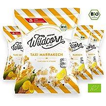 Wildcorn - salziges Popcorn - Kurkuma Zitrone (4x50g)   gesunder Snack   leckere Alternative zu Chips   Superfood für Büro, Unterwegs, Kino   vegan   100% Bio   ohne Zuckerzusatz   glutenfrei   Healthy Food   Taxi Marrakech