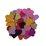 #7: Success® Heart Shaped Glitter Foam Mixed for Kids Crafting (100pcs) + Free Fevistick 5gms