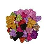#3: Success® Heart Shaped Glitter Foam Mixed for Kids Crafting (100pcs) + Free Fevistick 5gms