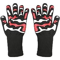 dreamerd barbacoa guantes de horno, resistente al calor guantes de horno guantes para cocinar, asar, hornear (negro)