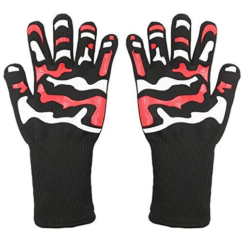 Asoon Hitzebeständige Handschuhe, Extreme BBQ Grillhandschuhe, Hitzebeständige Ofenhandschuhe zum Kochen, Grillen, Backen, Küchenhandschuhe