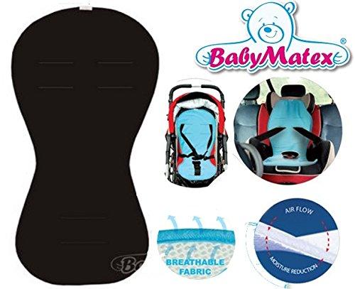 Baby Matex Aero Line Siège auto Tapis Coussin pour siège enfant/Paddi Air Flow universel Noir