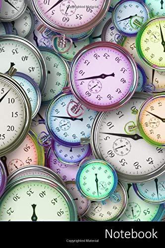 Notebook: Zeit, Zeitmanagement, Stoppuhr, Geschäft Notizbuch / Tagebuch / Schreibheft / Notizen - 6 x 9 Zoll (15,24 x 22,86 cm), 150 Seiten, glänzende Oberfläche.