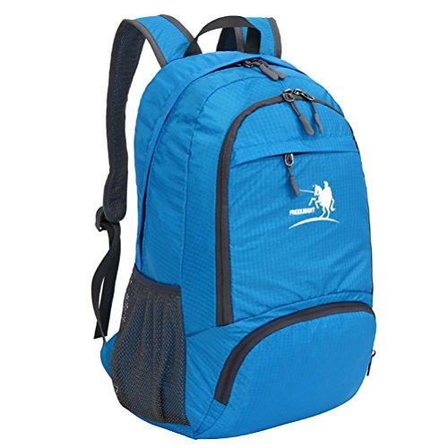 Free Knight Nuovo stile Outdoor Zaino impermeabile pieghevole arrampicata, escursionismo borsa casual 35L, Black Blue