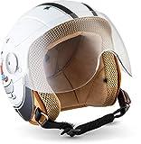 Soxon SK-55 'Fun White' · Kinder-Jet-Helm · Kinder-Helm Motorrad-Helm Roller-Helm Kids...