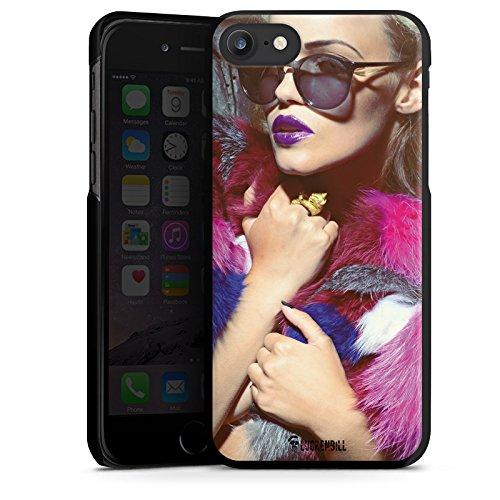 Apple iPhone X Silikon Hülle Case Schutzhülle Frau Sonnenbrille Lippenstift Hard Case schwarz