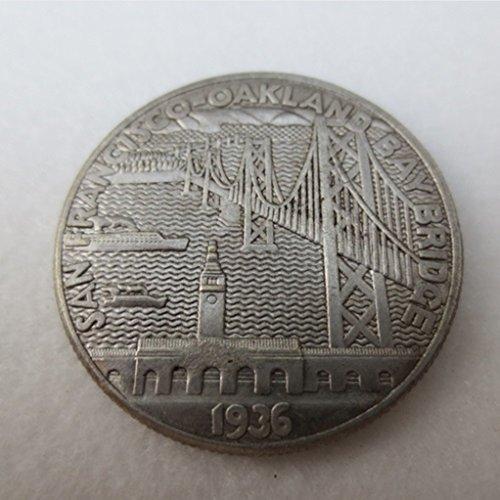 bespok Souvenirs seltenes Antikes USA United States 1936San Francisco-Oakland Bay Bridge Öffnung Half Dollar Silber Gedenkmünze -
