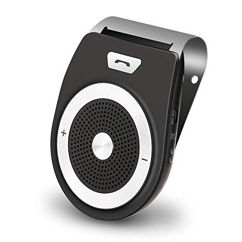 Bluetooth Auto-Freisprecheinrichtung, kabellose Sun Visor Freisprecheinrichtung Freisprechanlage Car-Kit,  Unterstützt GPS, Musik, Gleichzeitiges Verbinden mit bis zu 2 Mobiltelefonen