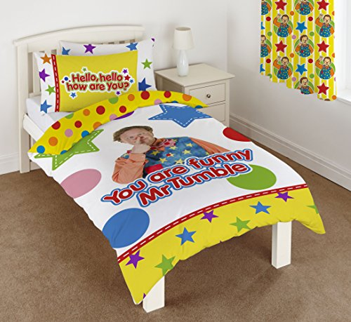 Something Special Mr Tumble Duvet Set, 50 Percent Cotton/50 Percent Polyester, Multi-Colour, Single, 135 x 200 cm