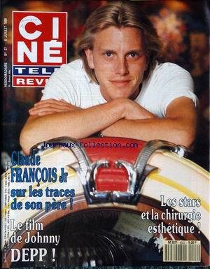 CINE TELE REVUE [No 27] du 05/07/1990 - CLAUDE FRANCOIS JR - LE FILM DE JOHNNY DEEP - LES STARS ET LA CHIRURGIE ESTHETIQUE. par Collectif