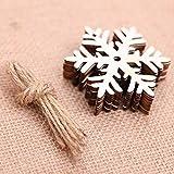 Leey Decorazioni di Natale Christmas 10 pezzi fai da te in legno ornamenti ciondolo per albero di Natale e decorazioni per feste festa di matrimonio / festa di compleanno / decorazioni natalizie (F)