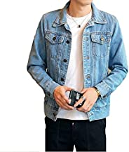Men Denim Jacket Coats Fashion Cowboy Outwear Streetwear 3XL(,)