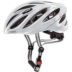 Uvex Boss Race - Casco de ciclismo para hombre, color blanco, talla 55-60 cm