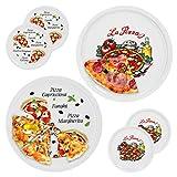 6er Set Pizzateller Napoli & Margherita groß - 30,5cm Porzellan Teller mit schönem Motiv - für Pizza / Pasta, den 'großen Hunger' oder zum Anrichten geeignet