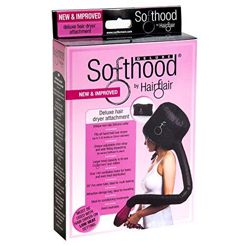 Softhood secador pelo capo campana apego color negro