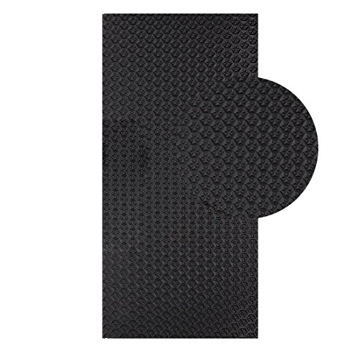 Langlauf Schuhbedarf Sohlengummiplatte 250mm x 500mm 4mm stark Profil Star in verschiedenen Farben zur Anfertigung von Schuhsohlen oder als Anti Rutsch Belag - 4 mm Stärke schwarz (Schwarz)
