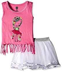 612 League Baby Girls Clothing Set (ILS17I75003-3 - 6 Months-White)