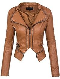 new style d2441 d087d Suchergebnis auf Amazon.de für: Kunstlederjacke Braun Damen ...