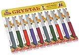 #5: Crystal Sleek Serrated Edge Stainless Steel Knife, 20.32cm, Multicolour