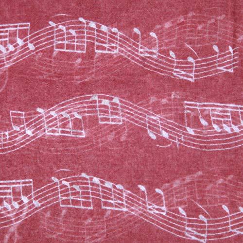 diarylook Damen Lovely und weichem Musik Note Druck Schal Gr. One size, kastanienbraun - 5