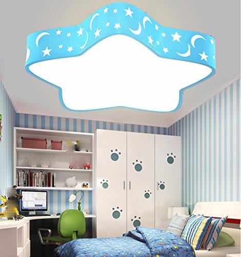 FGSGZ Decke Leuchte Kinder Cartoon Lampen Blaue Sterne 24W 0-Poliges Dimmen 48 * 48Cm, (Stern-polig)