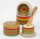 original französische wassergekühlte keramik butterdose, immer frische und streichfähige butter, ca 250gr butter, bunt sun Z-G