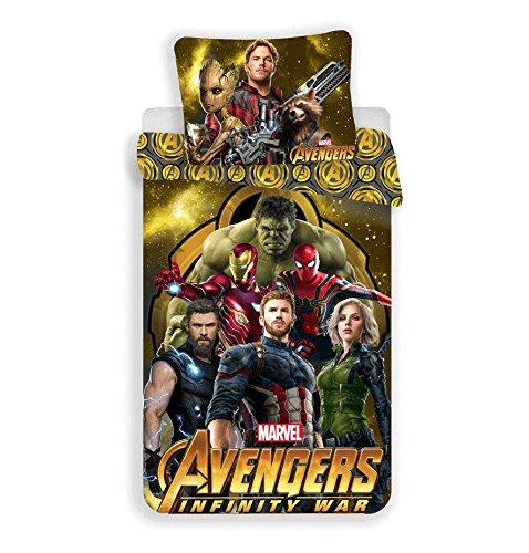 Avengers The Caractère Parure de lit, Coton, Multicolore, 200x140x0,5 cm