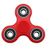 Trixpin® Fidget Hand Finger Spinner Steel Bearing Ultimate Spin Stress Relief Toy EDC (Red)