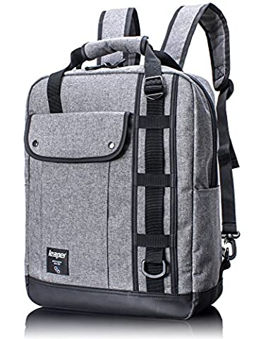 15.6'' Slim Laptop Briefcase Backpack, 3 in 1 Premium Water