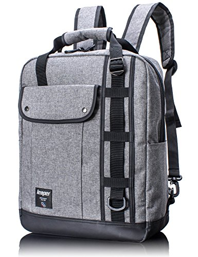 leaper-156-laptop-briefcase-backpack-3-in-1-premium-water-resistant-convertible-computer-knapsack-me