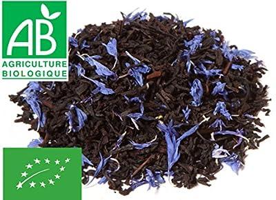 Thé noir Earl Grey BIO 200g - bergamote et bleuets - sachet biodégradable
