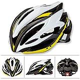 Allyine Hommes Femmes Casque de Cyclisme Adult Mountain Road Casque de vélo 58-62 cm Casques VTT et VTC, Jaune