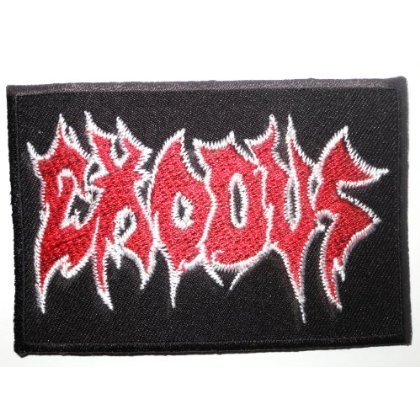 EXODUS Thrash Metal patches Embroidered iron/sew on Patch to Cloth, Jacket, Jean, Cap, T-shirt and Etc. /Size 9x6 cm by patch by holies pony