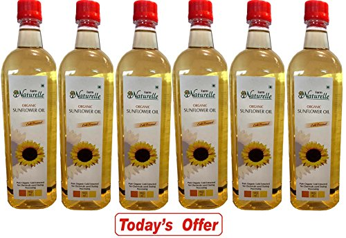 Farm Naturelle 6 Organic Cold Pressed Virgin Sunflower Cooking Oil (6X915Ml)