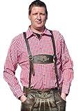 Alpin-Trachten trachtenhemd Rot Weiss kariert Hemd Langarm