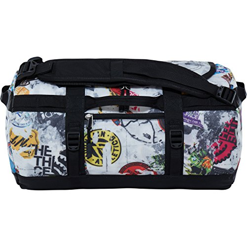 The North Face Unisex Reisetasche Base Camp, 32,5 x 53 x 32,5 cm, 50 liters, CWW3 TNF Red Sticker Bomb Decay Print/TNF Black