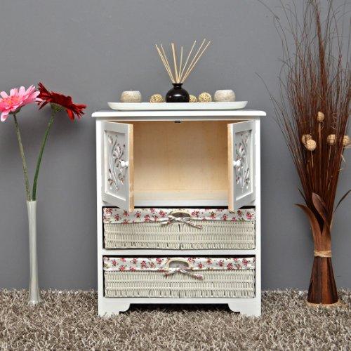 Country House Dresser disimpegno mobiletto del bagno 60 x 73 cm Mensola credenza con legno decorazione intaglio - 8