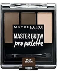 GEMEY MAYBELLINE 4 Deep Brown Kit Palette à Sourcils Foncée