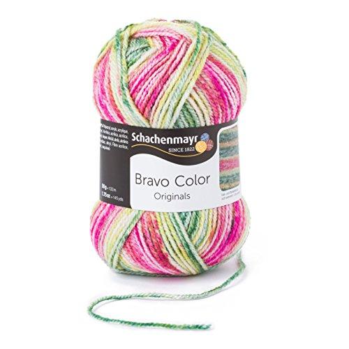 Schachenmayr Bravo Color 9801421-02123 wassermelone Handstrickgarn, Häkelgarn