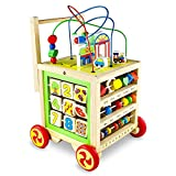 Lauflernhilfe Holz Spielzeug 7 in 1 Babyspielzeug Lernspielzeug ab 1 2 3 Jahren Mädchen Junge