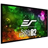 Elite Screens Sable Frame B2, 120-inch Diag. 16:9, Active 3D / 4K Ultra HD Fixed Frame Home Theater Projection Projector Screen Kit, SB120WH2