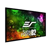 Elite Screens SB100WH2 100-Inch 3D 4K/8K Ultra HD Fixed Frame Home Theatre Projector Screen Kit - CineWhite