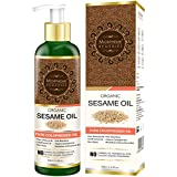 [Sponsored]Morpheme Remedies Organic Sesame Oil (Pure ColdPressed Oil) For Hair, Body, Skin Care, Massage, 200 Ml