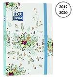 OXFORD 100738356 Flowers Agenda Scolaire journalier 2019-2020 1 Jour par Page 352 pages 12x18 Compo blanc