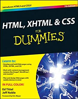 HTML, XHTML and CSS For Dummies (English Edition) de [Tittel, Ed