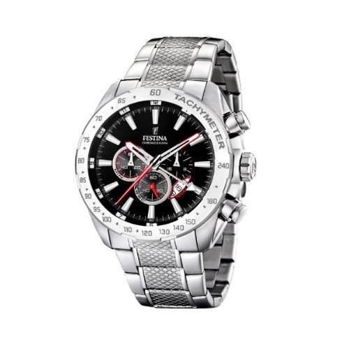 Festina Men's Quartz Watch Chrono F16488/5 F16488/5 with Metal Strap